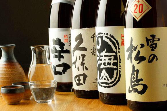 人気の日本酒もご用意しております。