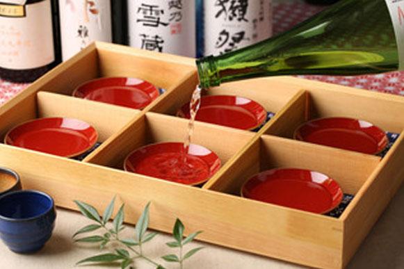 厳選 利き酒6種 1,300円(税抜)